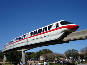Blue monorail