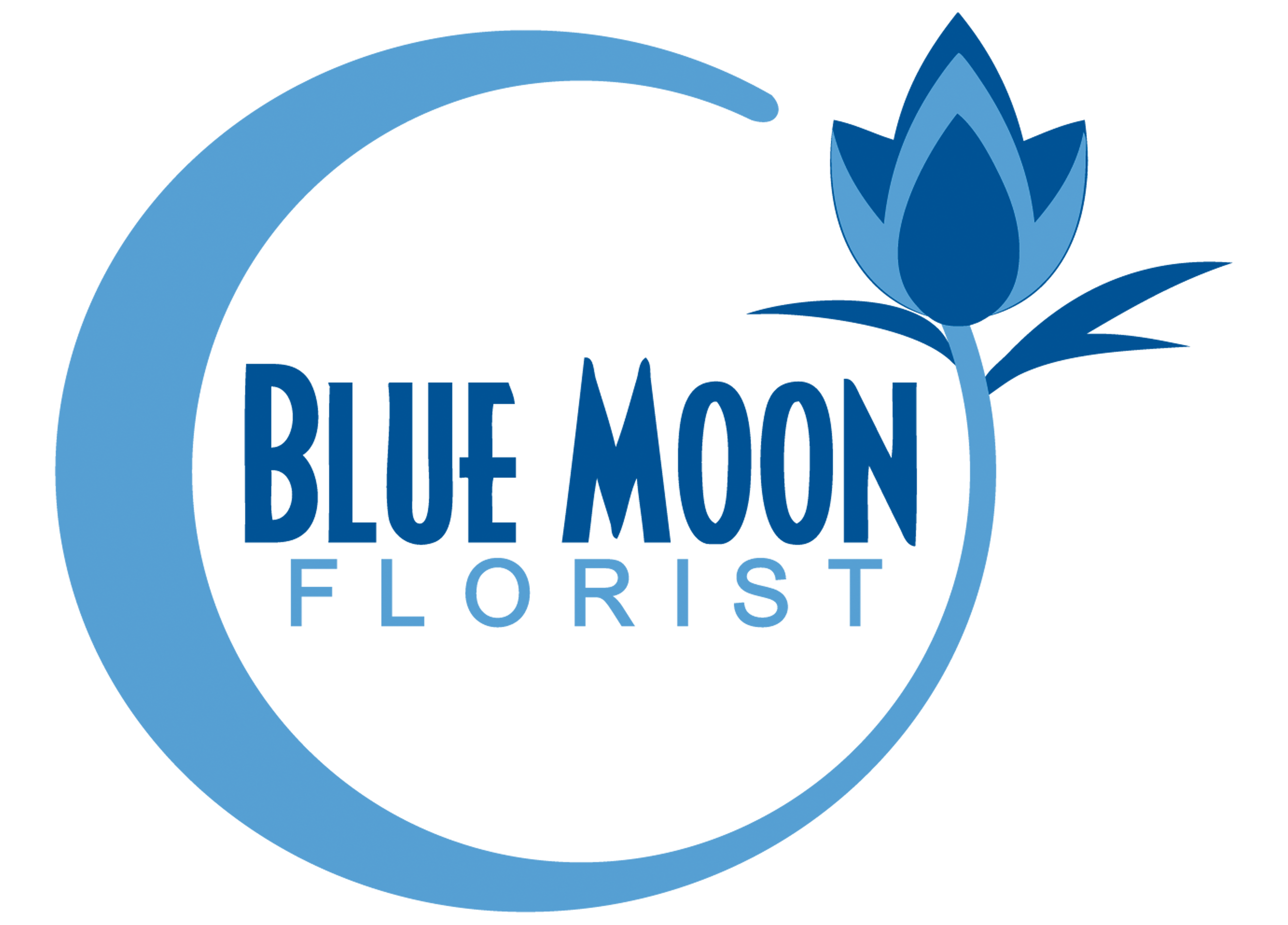 Blue moon logo png. About us florist downingtown