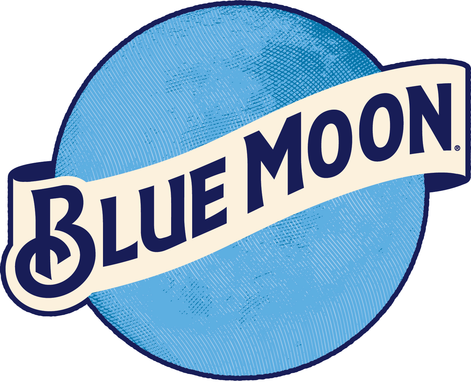 Fine american and imported. Blue moon logo png jpg free