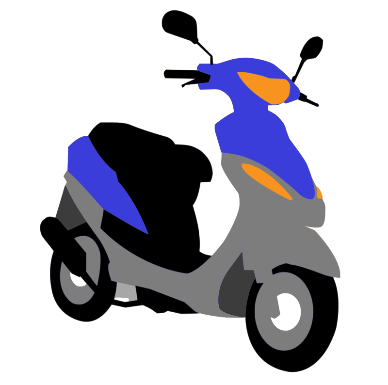 Blue scooter. Free clipart pearish