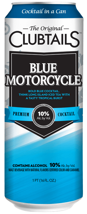 Blue motorcycle drink png. Clubtails cocktail in a