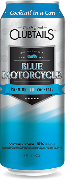 blue motorcycle drink png