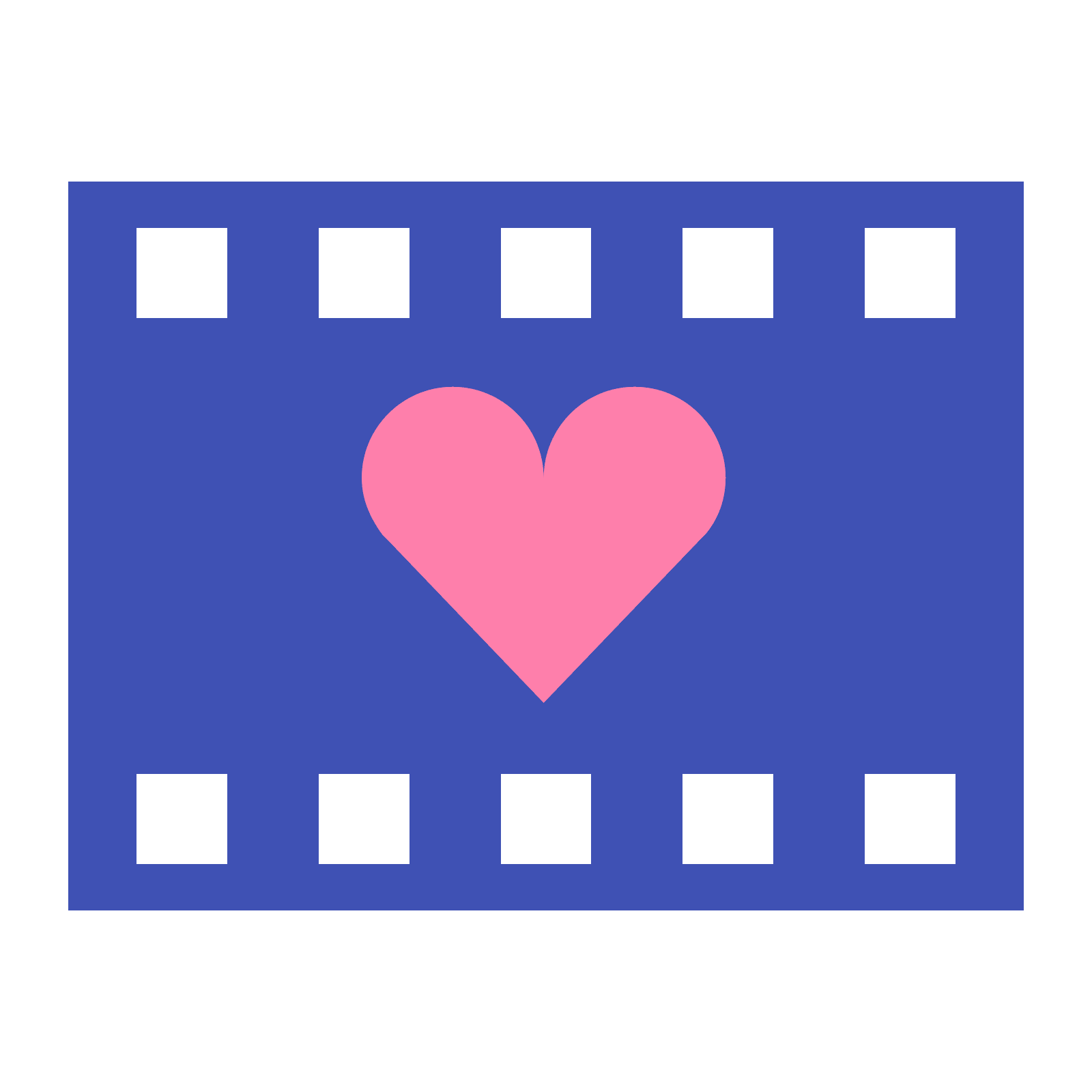Blue movies in png. Icons romantic icon