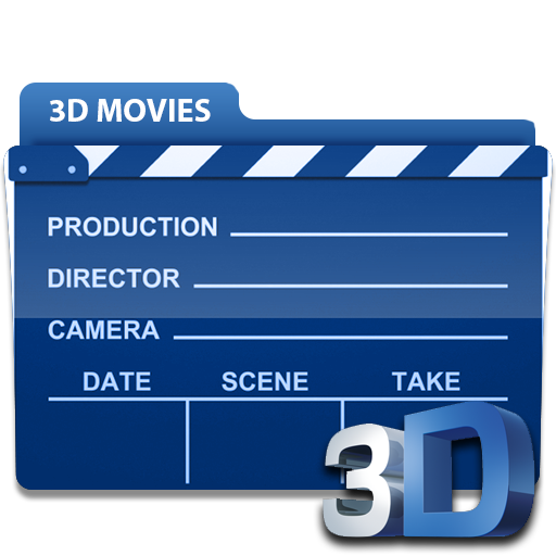 Blue movies in png. D folder icon
