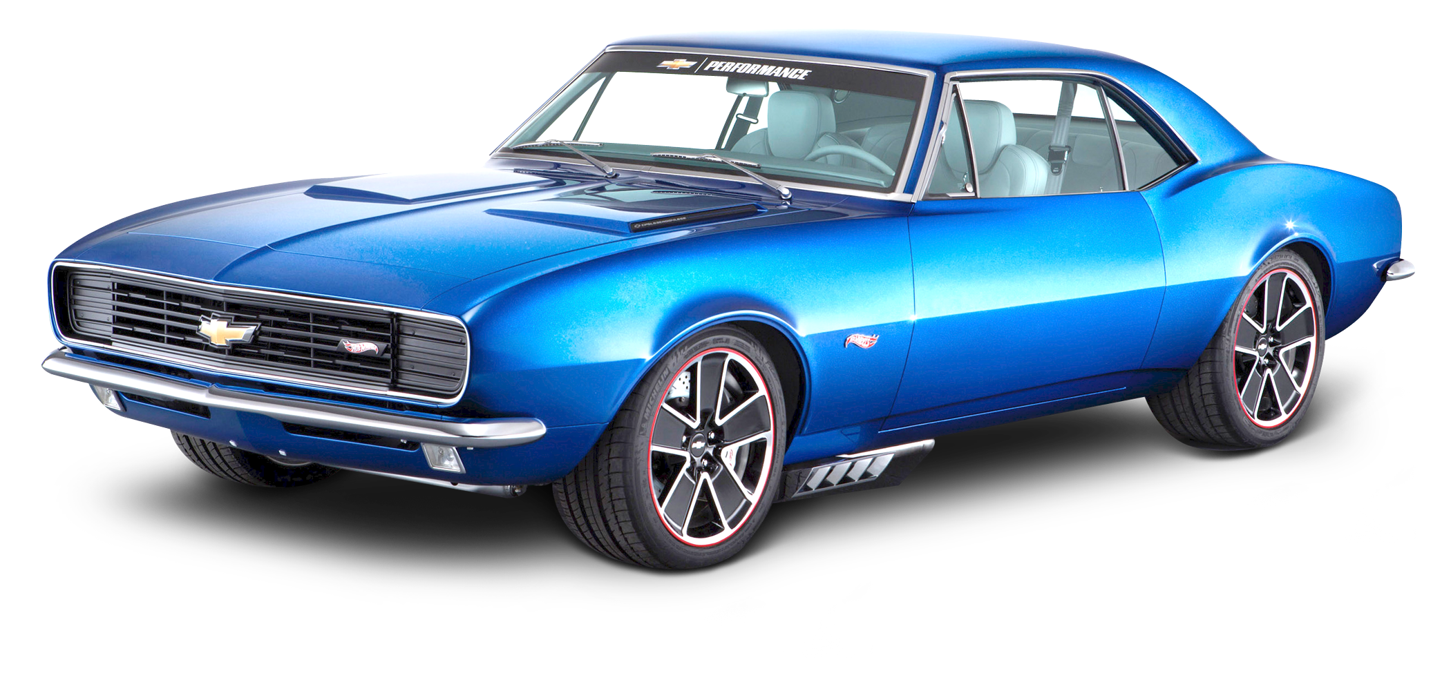 Muscle car png. Blue chevrolet camaro image