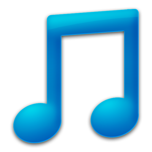 Blue music note png. Royalty free stock images