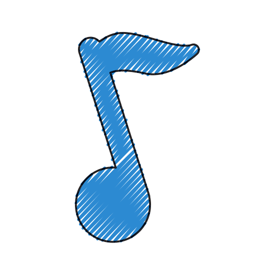 Blue music note png. Symbol mac images free