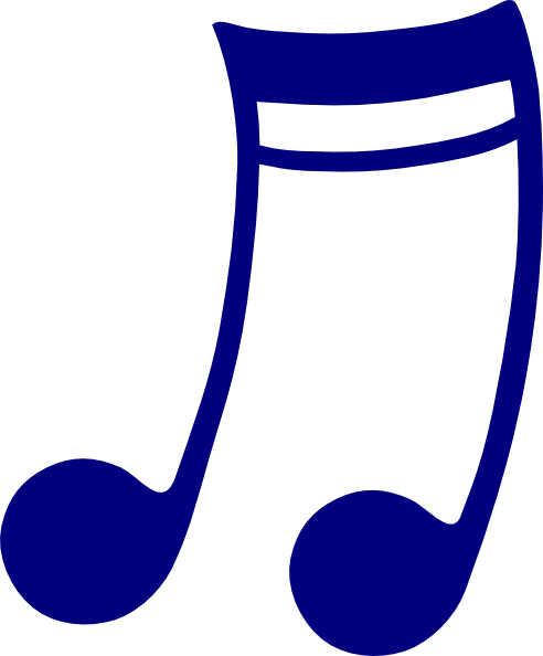 Music note png white. Blue clip art at