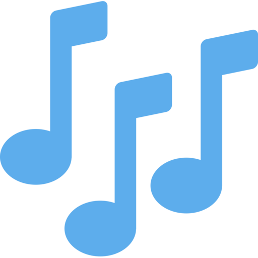 Blue music note png. Twitter twemoji