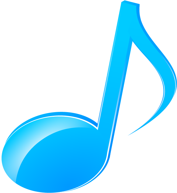 blue music note png
