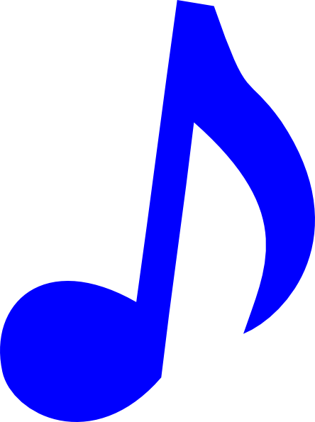 Blue music notes png. Note clip art at