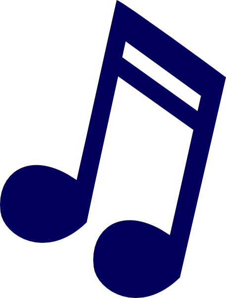 Dark blue music clip. Notes clipart math note image library