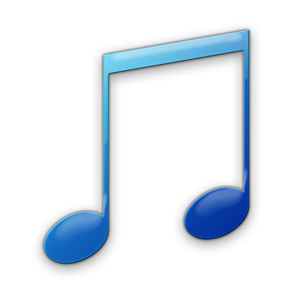 Blue notes png. Icon music note hd