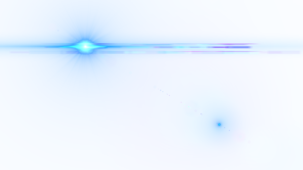 Blue optical flare png. Side lens image purepng