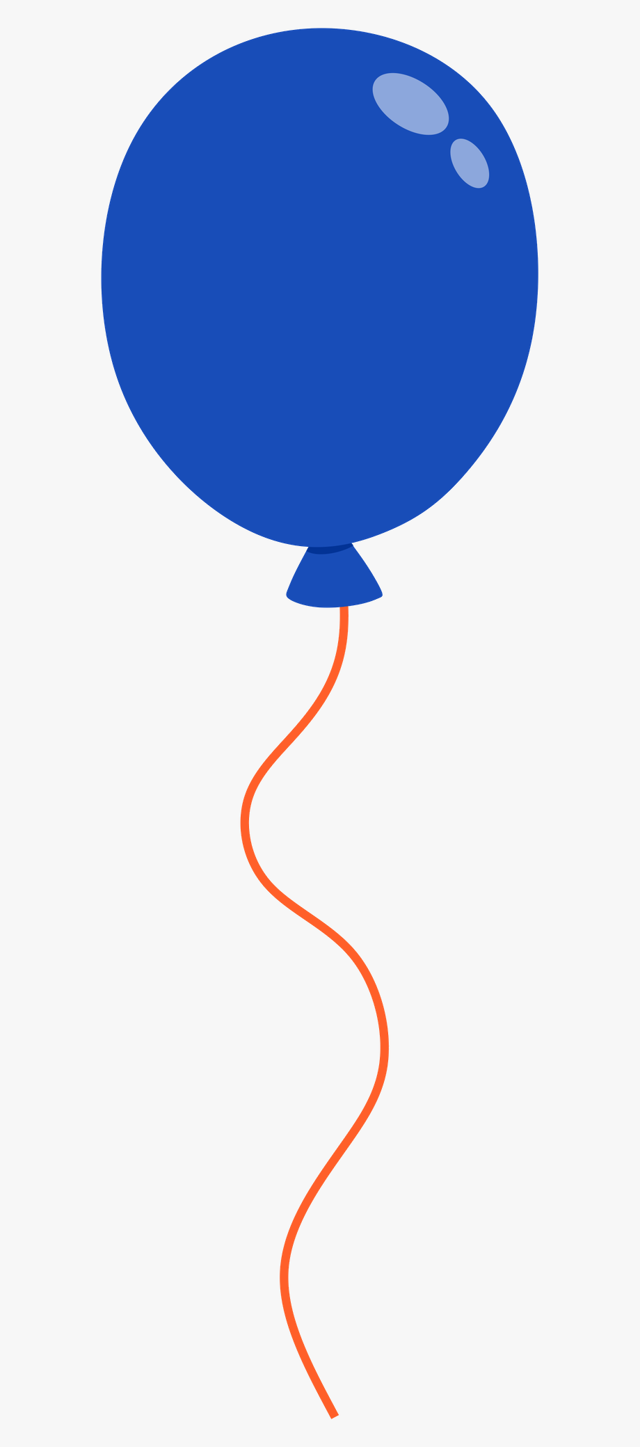Blue orange. And balloon clipart free