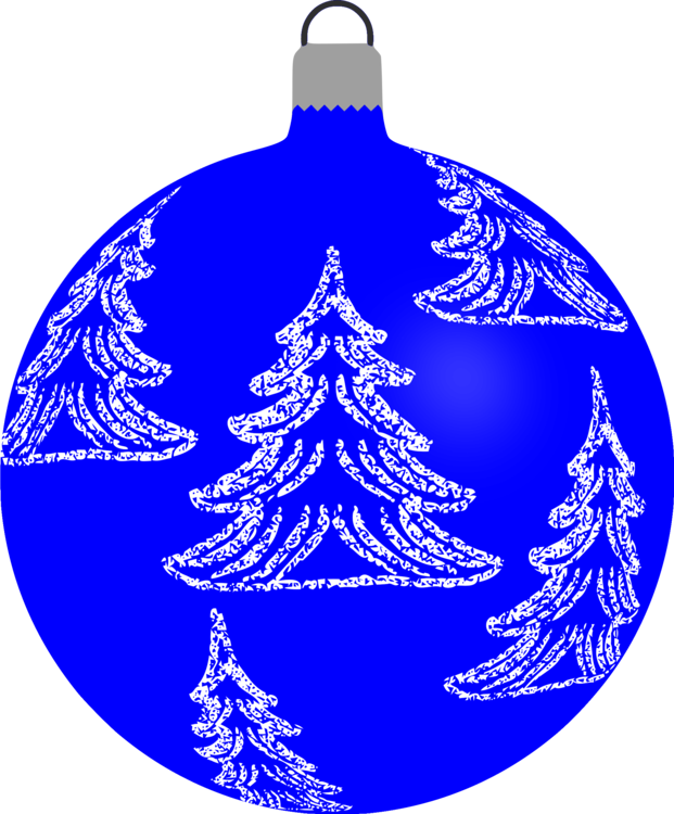 Blue ornament png. Christmas tree bombka day