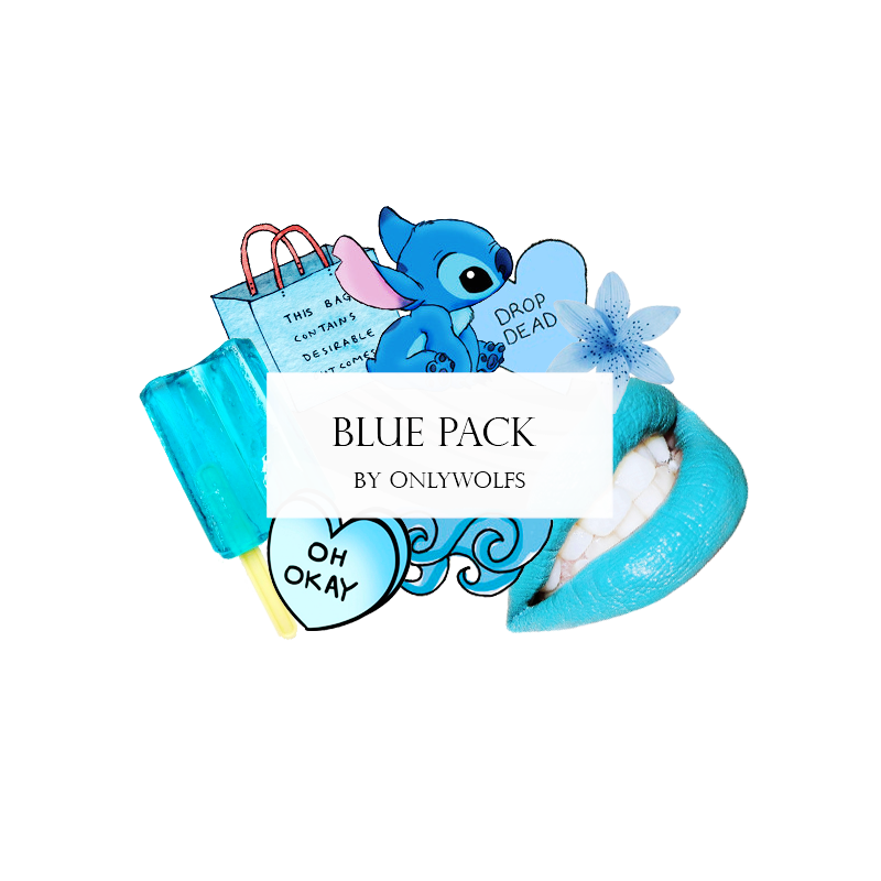 Blue overlay png. Pack azul by onlywolfs