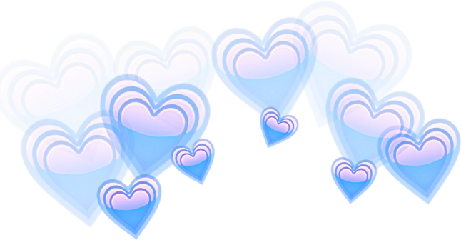 Blue overlay png. Edit tumblr hearts corazones