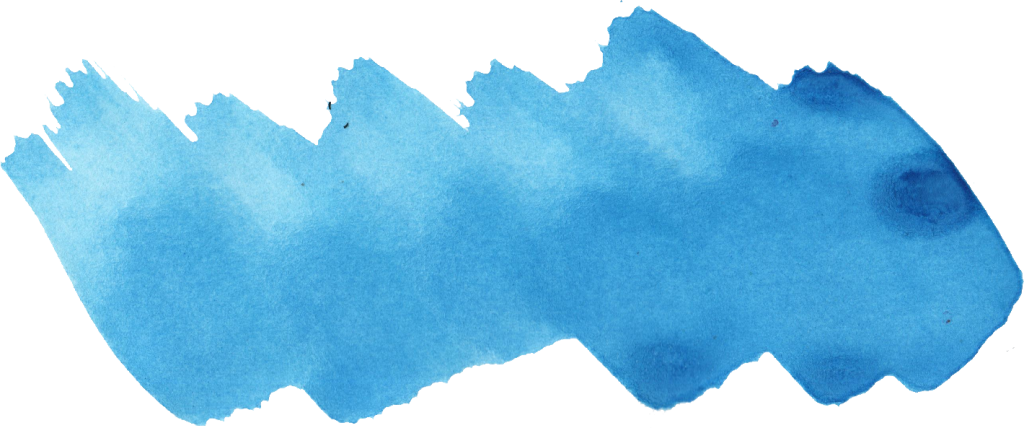 Blue paint png. Watercolor brush stroke