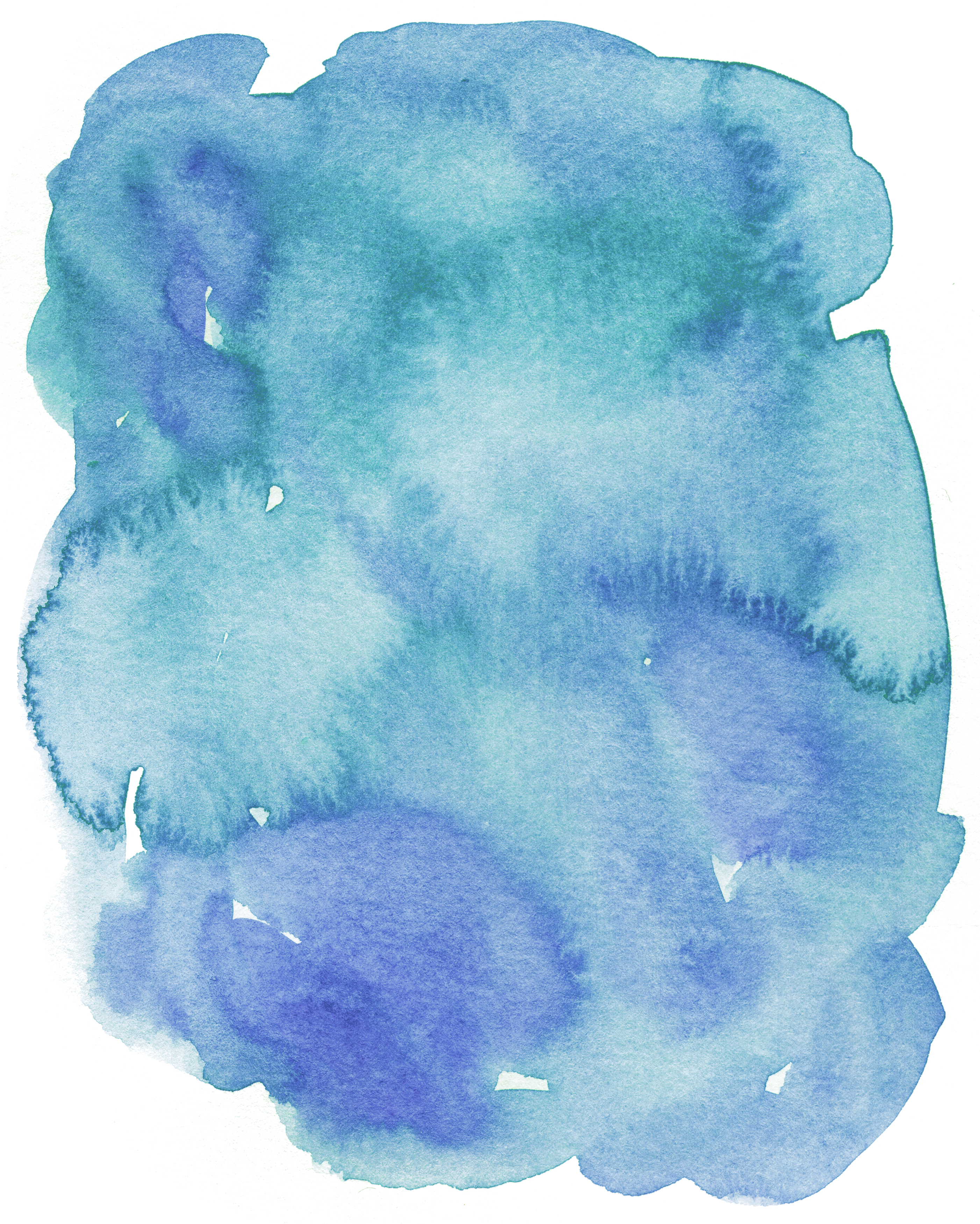 Blue drawing watercolor. Painting ink effect transprent