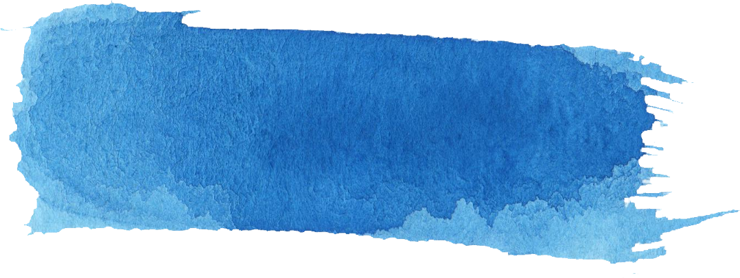 blue watercolor banner. Paint brush stroke png picture