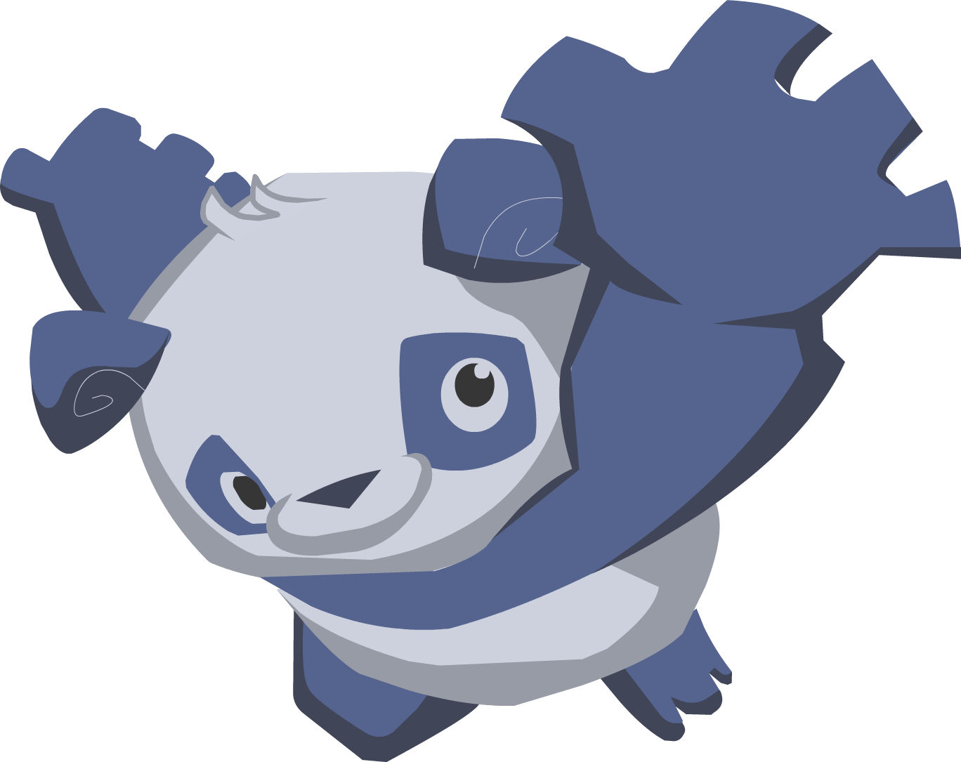 Blue panda png. Image from sky high