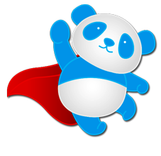 Blue panda png. Hosting shared vps dedicated