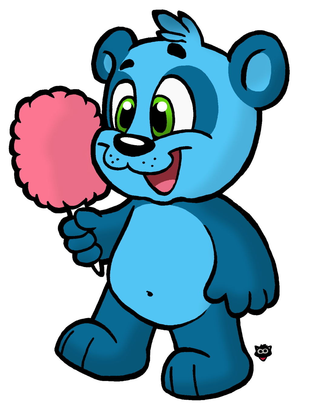 Blue panda png. Cotton candy by cartcoon
