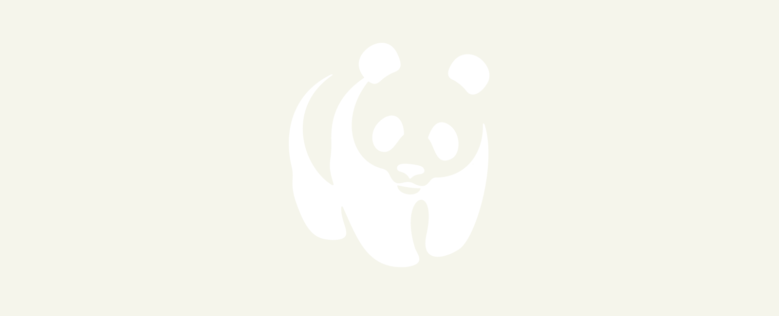 Blue panda png. Wwf sustain our seas