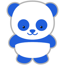 Blue panda png. Everything movie themed parties