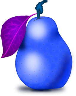 Blue pear. Color wheel of clipart