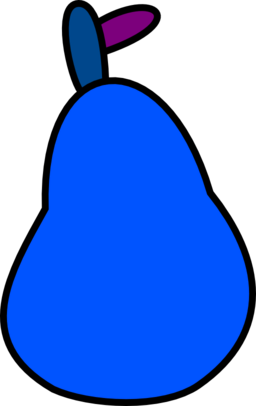 Blue pear. Color wheel of very