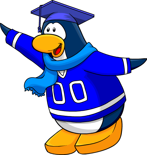 Blue penguin png. Image on the join