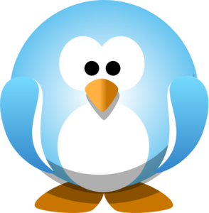 Penguin png blue. Clip art at clker