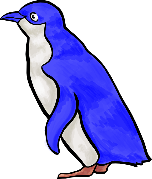 Penguin png blue