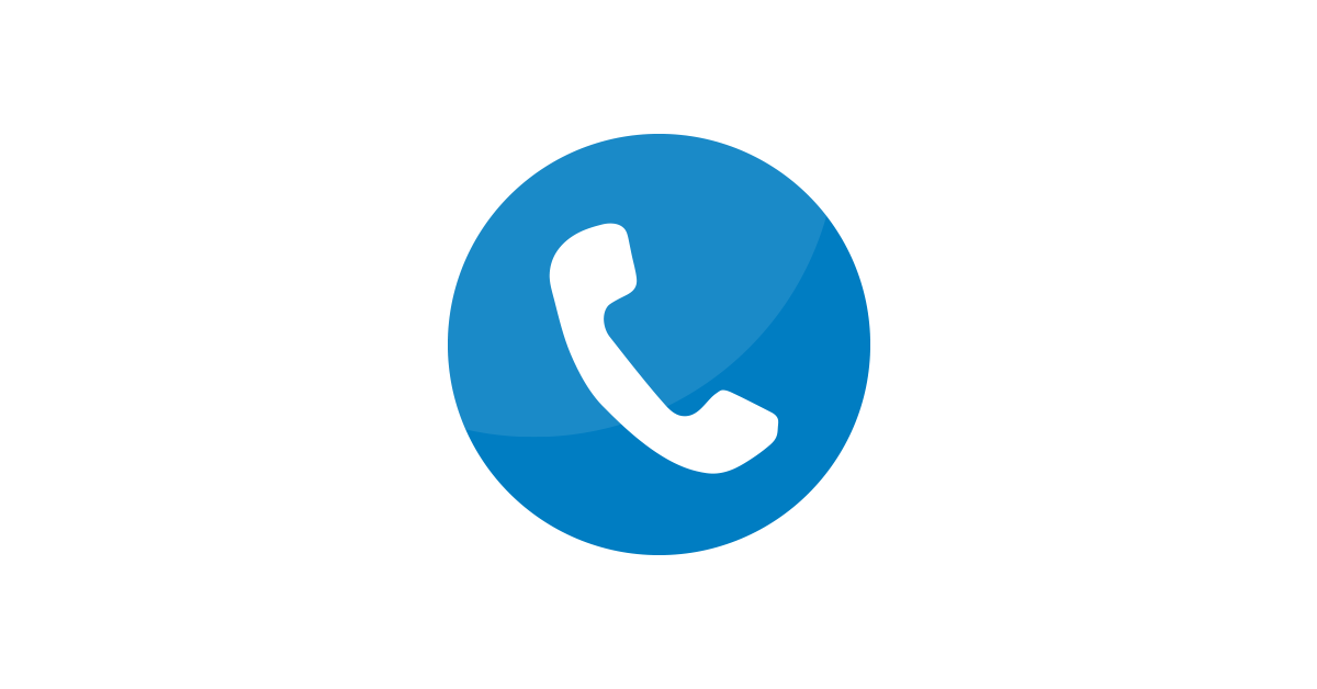 Blue phone png. Icon vector and free