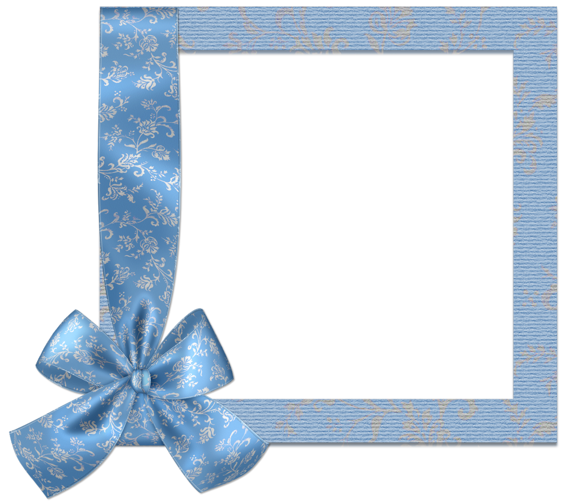 Cute frames png. Blue frame with bow