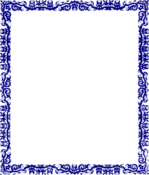Blue frame png transparent. Modern vector certificate border black and white library