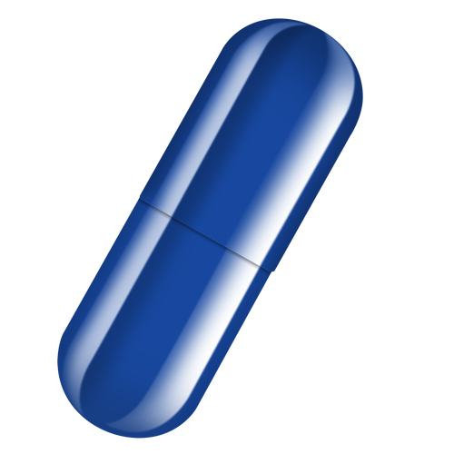 Blue pill png. Vegetable capsule size