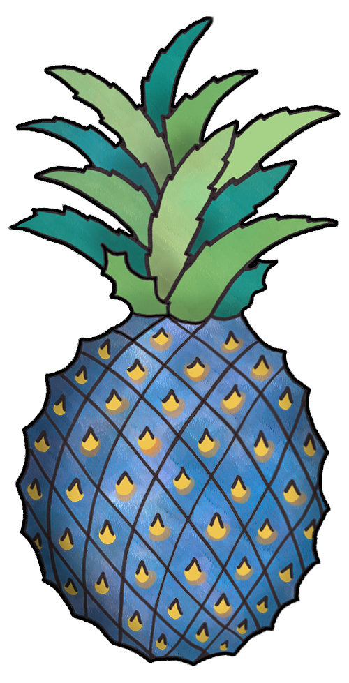 Blue pineapple. Image free download best