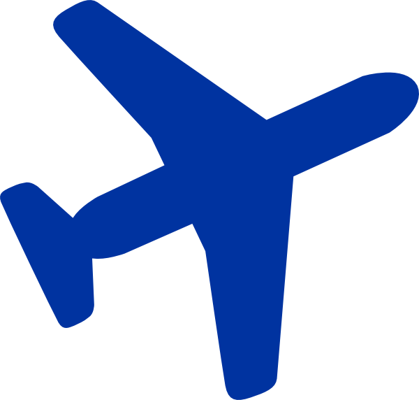 Blue plane. Clipart transparent free for