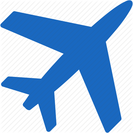 Blue aircraft. Travel background clipart airplane