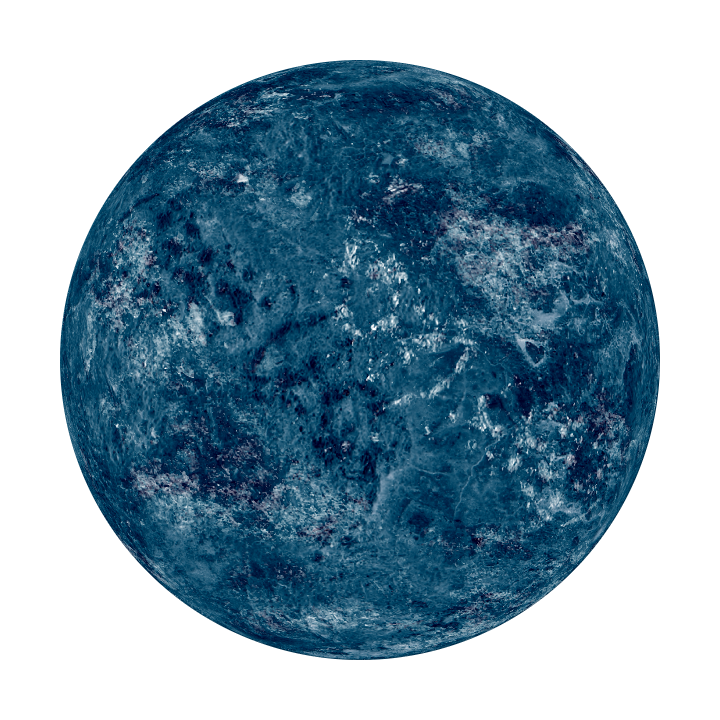 Blue planet png. Without atmosphere by l