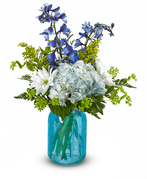 Blue plant png. Vintage royer s flowers