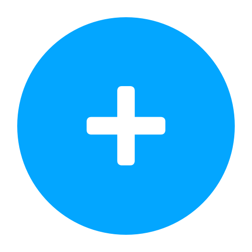 Blue plus sign png. Round ui buttons by