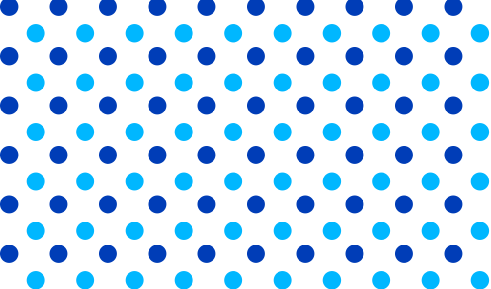 Blue polka dots png. Repeatable background vector graphics