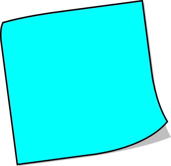 Blue post it note png. Sticky clip art at