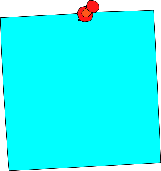 Blue post it note png. Sticky ped clip art