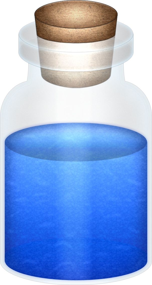 Blue potion png. Oot bottle by blueamnesiac