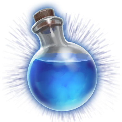 Blue potion png. Mana official orcs must